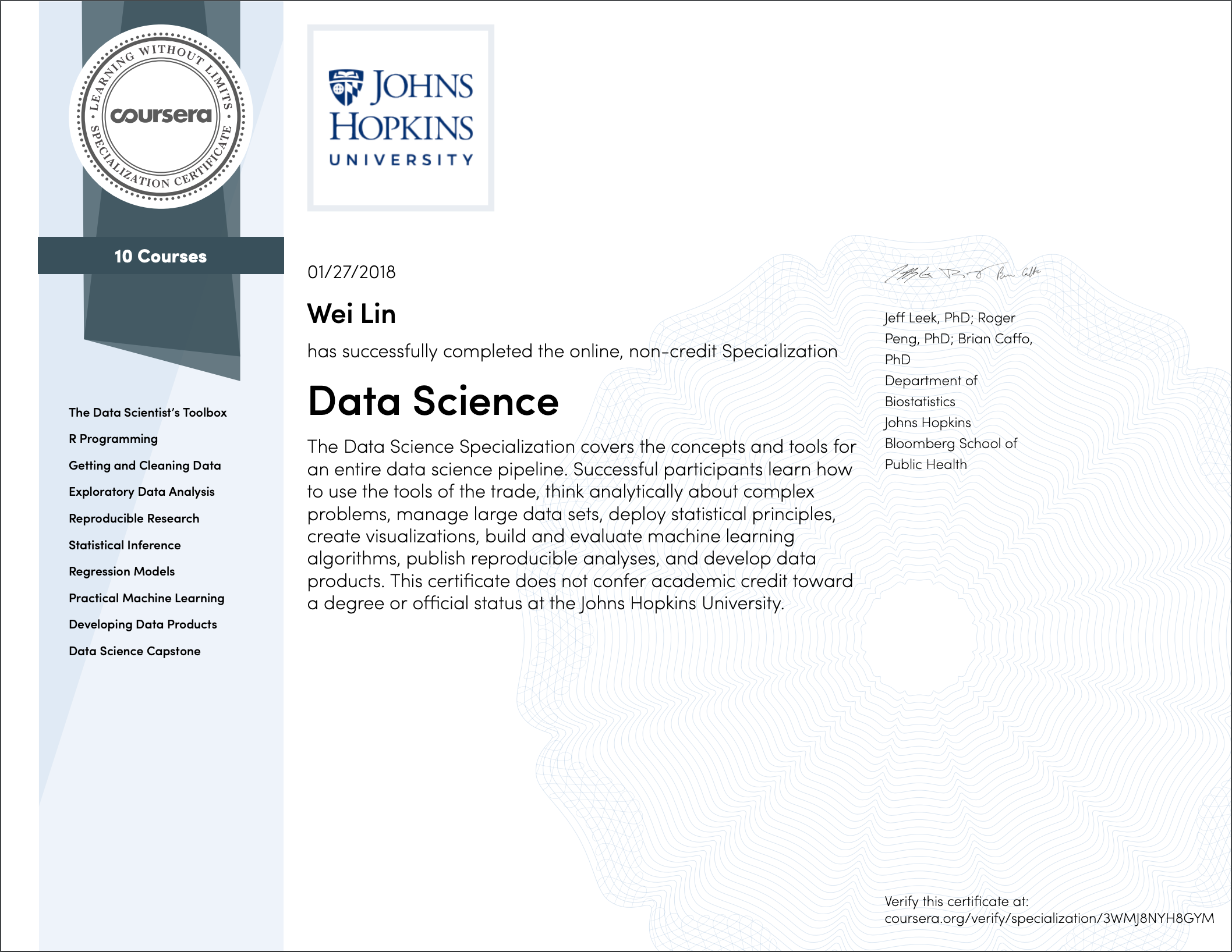 A Review of JHU Data Science Specialization